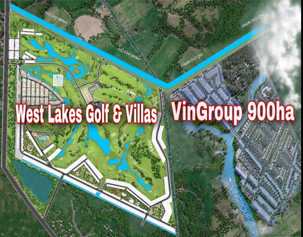 Dự án West Lakes Golf & Villas kề bên Vingroup 900 hecta